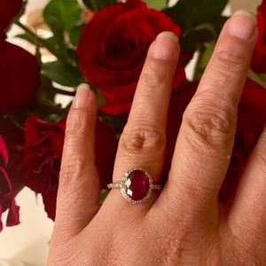 Sterling Forever - Sterling Silver Ruby CZ Ring 💍